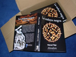 Primeros ejemplares de la novela